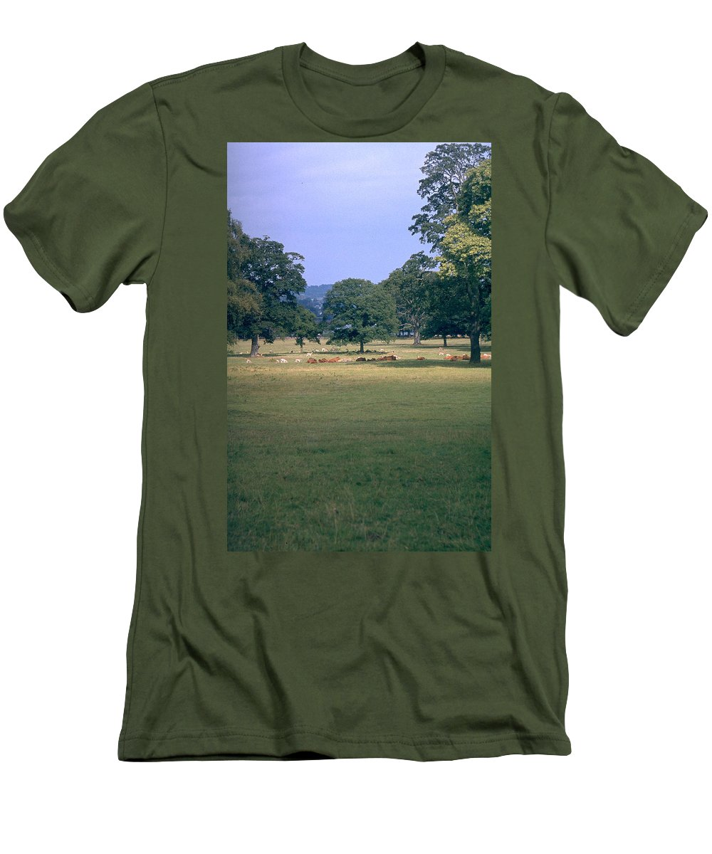 Great Britain Men's T-Shirt (Athletic Fit) featuring the photograph Pasture by Flavia Westerwelle