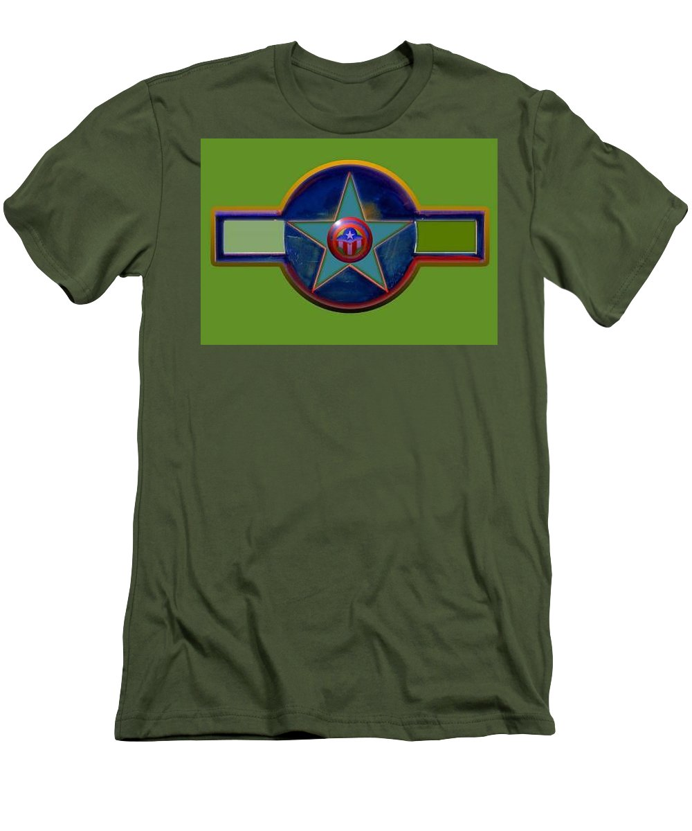Usaaf Insignia Men's T-Shirt (Athletic Fit) featuring the digital art Pax Americana Decal by Charles Stuart
