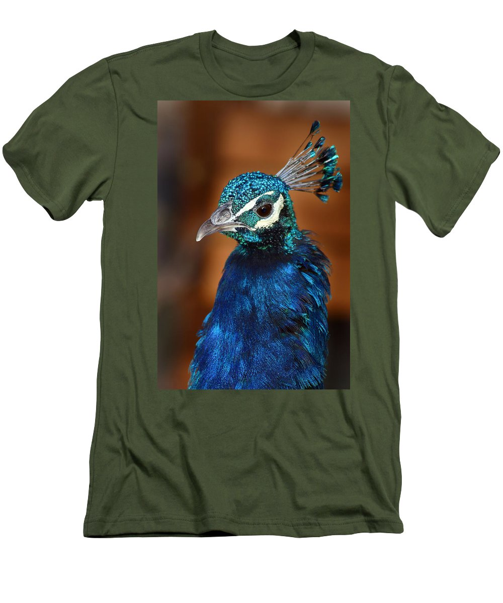 Peacock Men's T-Shirt (Athletic Fit) featuring the photograph Peacock by Anthony Jones