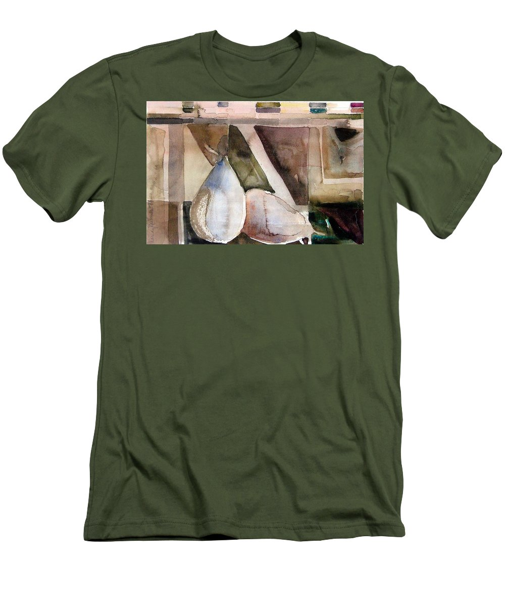Pear Men's T-Shirt (Athletic Fit) featuring the painting Pear Study In Watercolor by Mindy Newman