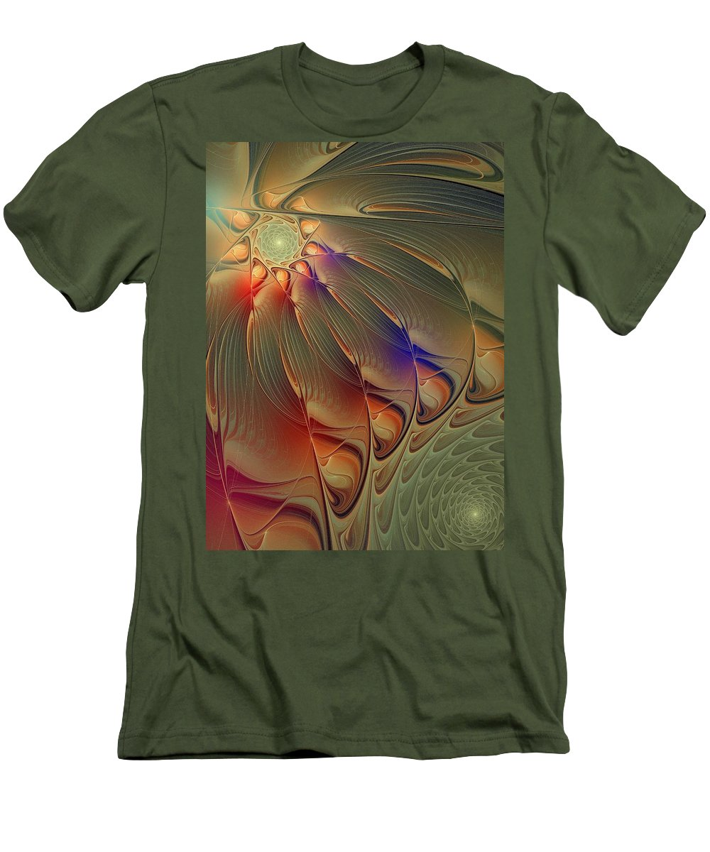 Digital Art Men's T-Shirt (Athletic Fit) featuring the digital art Petalia by Amanda Moore