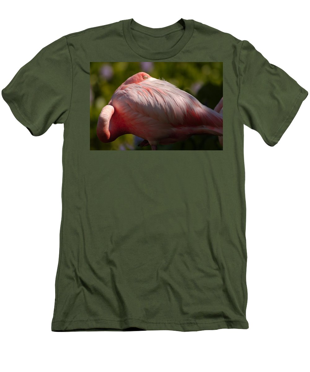 Nature Men's T-Shirt (Athletic Fit) featuring the photograph Pink by Sebastian Musial