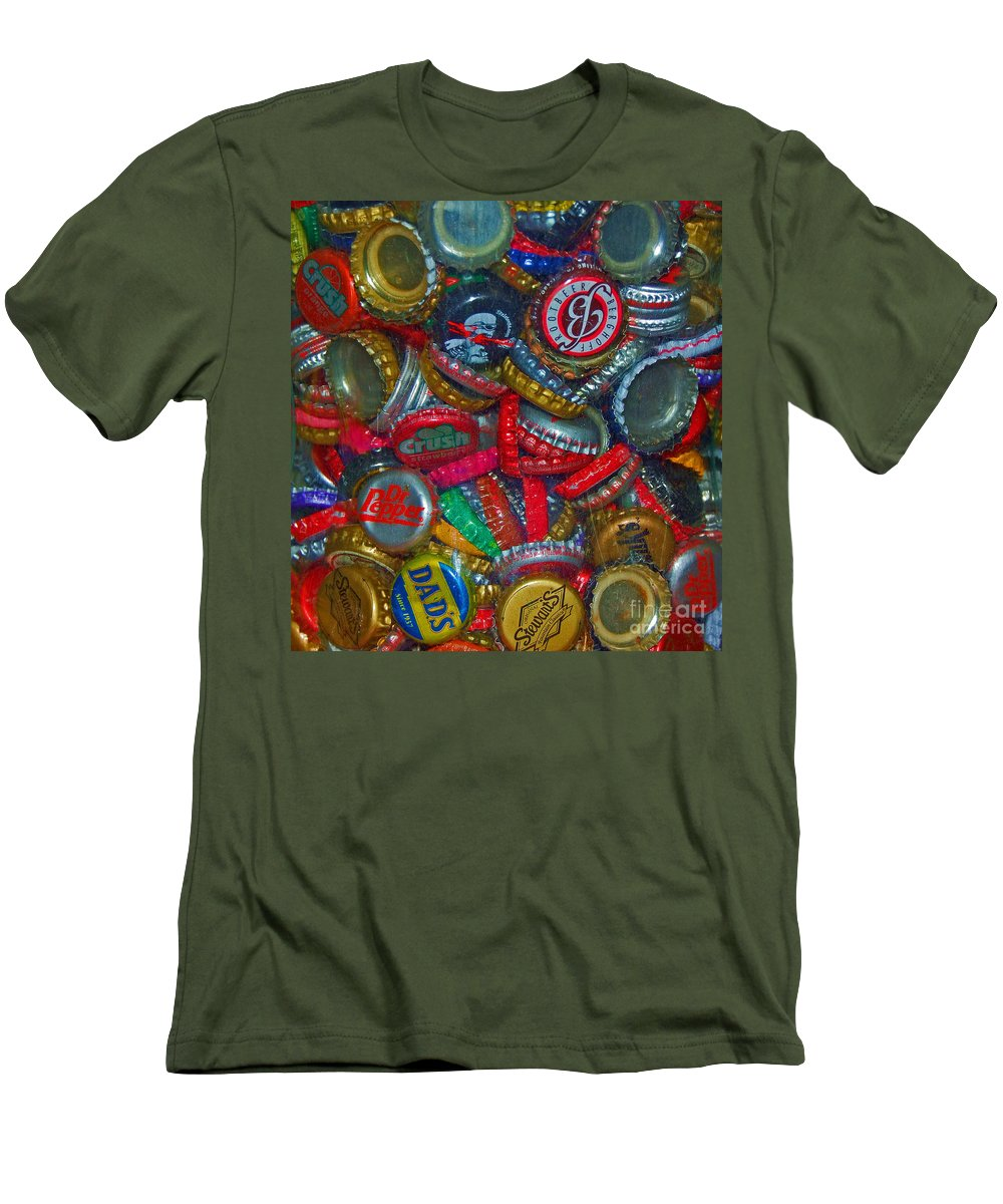 Bottles Men's T-Shirt (Athletic Fit) featuring the photograph Pop Art by Debbi Granruth