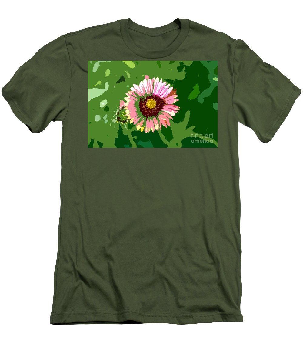 Flower Men's T-Shirt (Athletic Fit) featuring the photograph Pop Flower Work Number 23 by David Lee Thompson