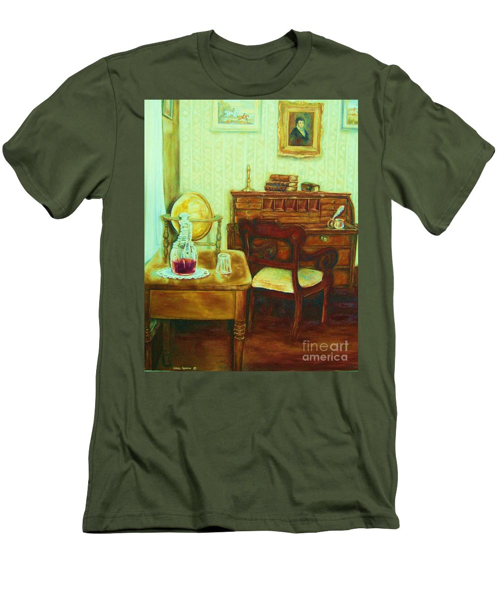 Prayer Room Men's T-Shirt (Athletic Fit) featuring the painting Prayer Closet by Carole Spandau