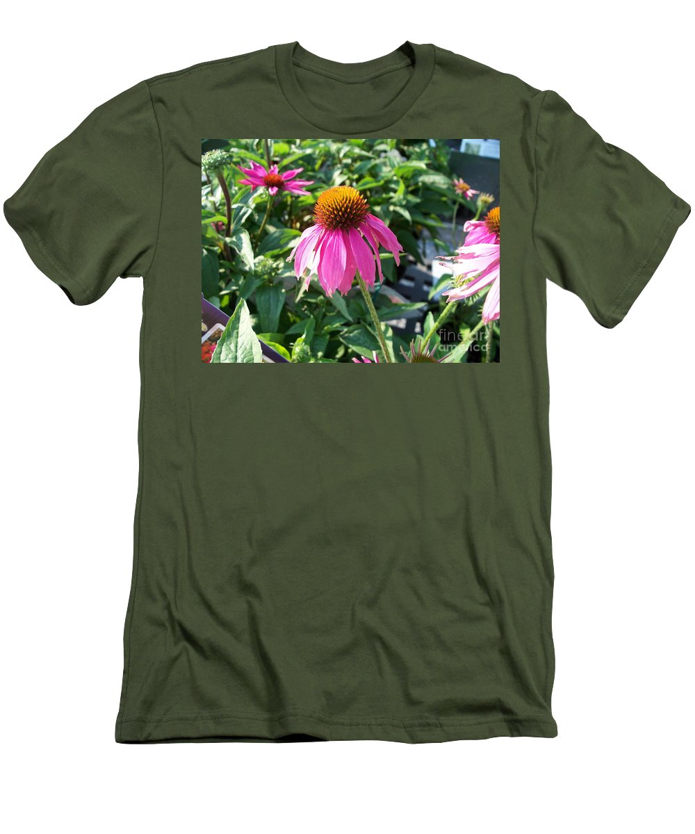 Floral Men's T-Shirt (Athletic Fit) featuring the photograph Purple Flower by Eric Schiabor