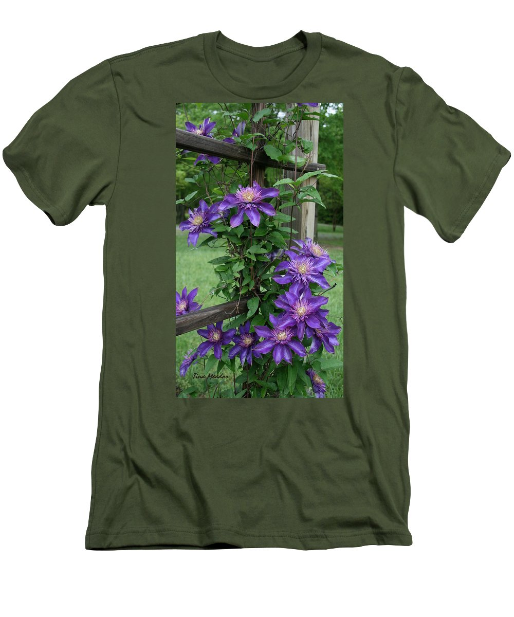 Purple Men's T-Shirt (Athletic Fit) featuring the photograph Purple by Tina Meador