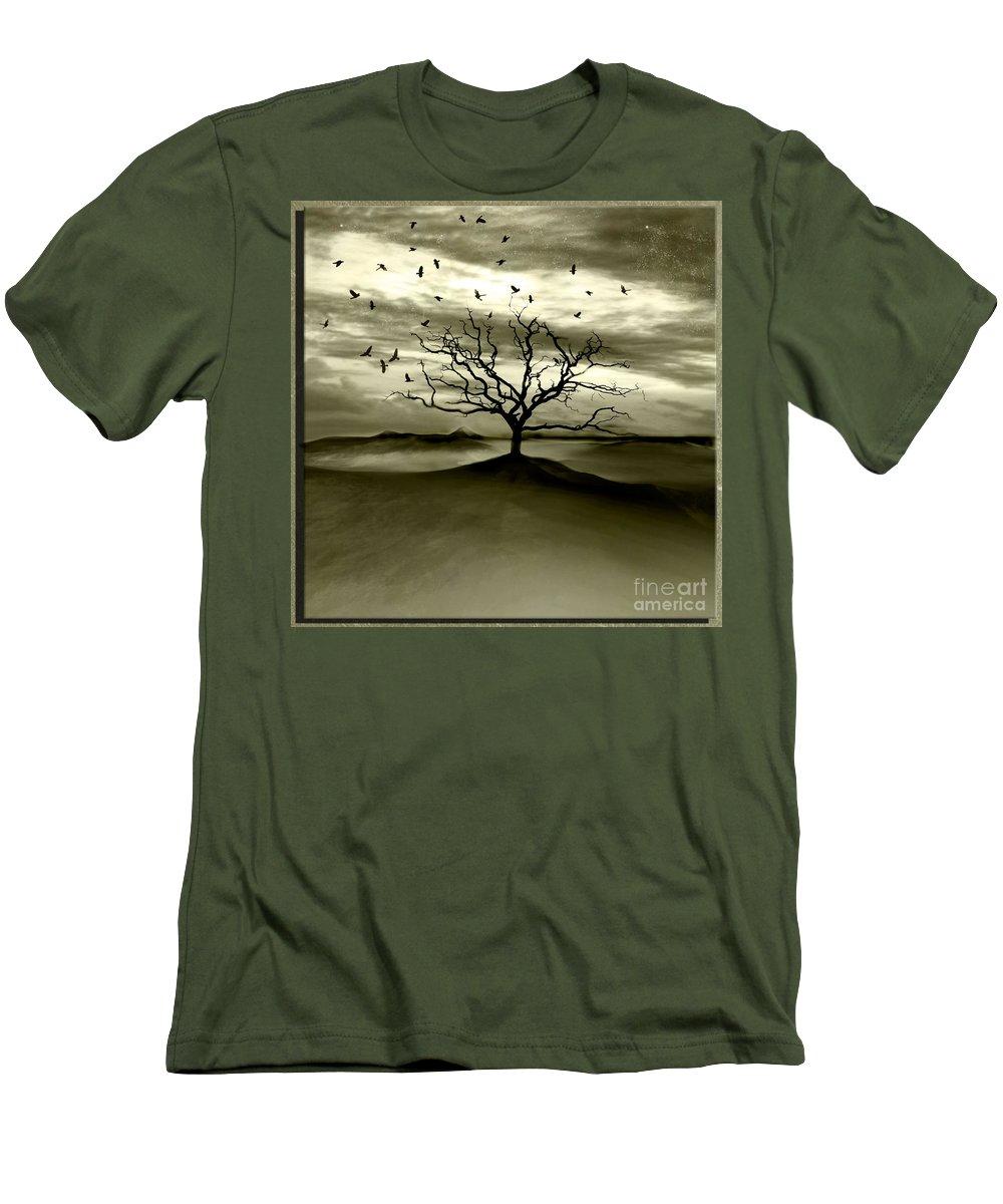 Landscape Men's T-Shirt (Athletic Fit) featuring the photograph Raven Valley by Jacky Gerritsen