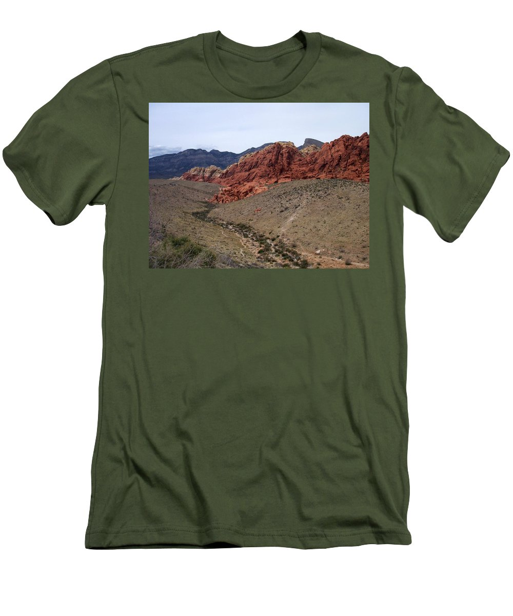 Red Rock Canyon Men's T-Shirt (Athletic Fit) featuring the photograph Red Rock Canyon 1 by Anita Burgermeister
