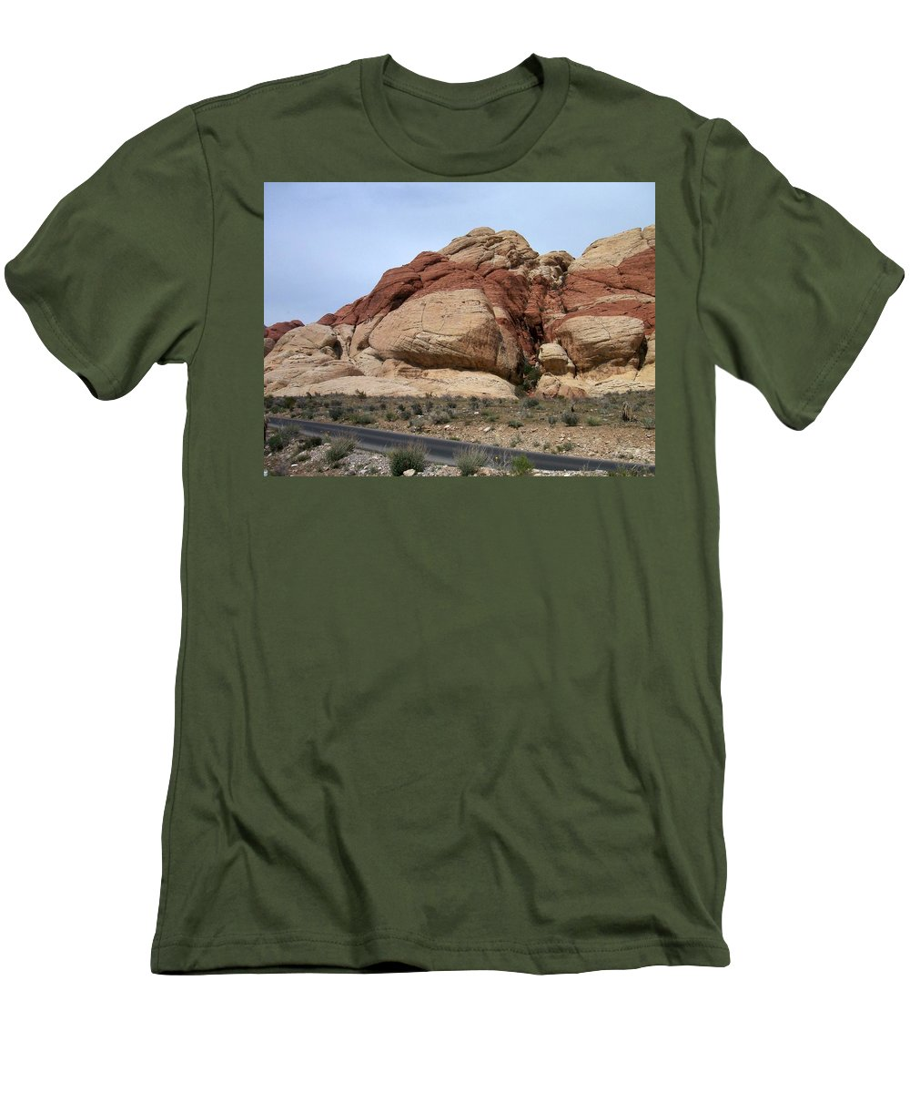 Red Rock Canyon Men's T-Shirt (Athletic Fit) featuring the photograph Red Rock Canyon 2 by Anita Burgermeister