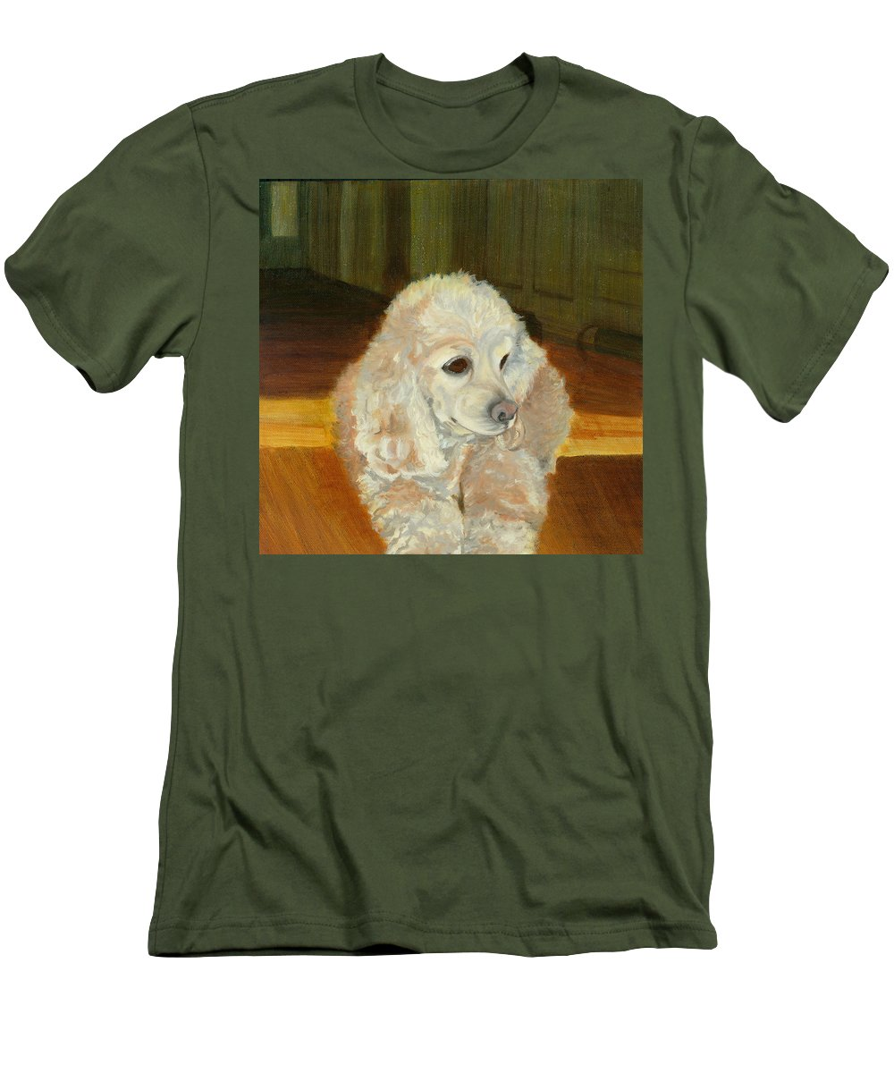 Animal Men's T-Shirt (Athletic Fit) featuring the painting Remembering Morgan by Paula Emery