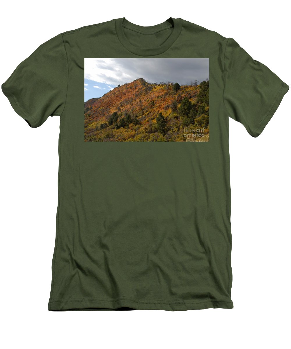 Landscape Men's T-Shirt (Athletic Fit) featuring the photograph Ridge Line by David Lee Thompson