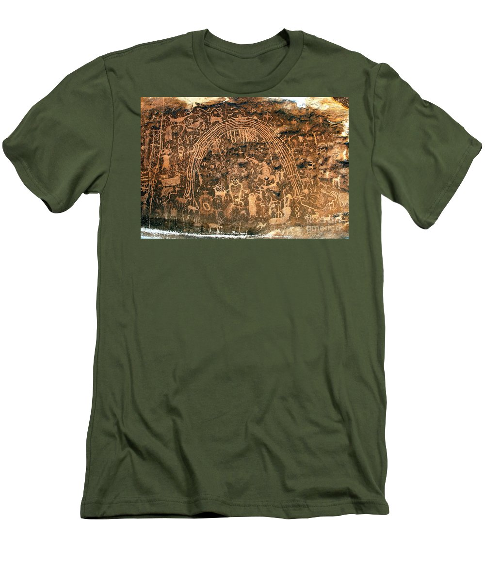 Petroglyphs Men's T-Shirt (Athletic Fit) featuring the photograph River Of Dreams by David Lee Thompson