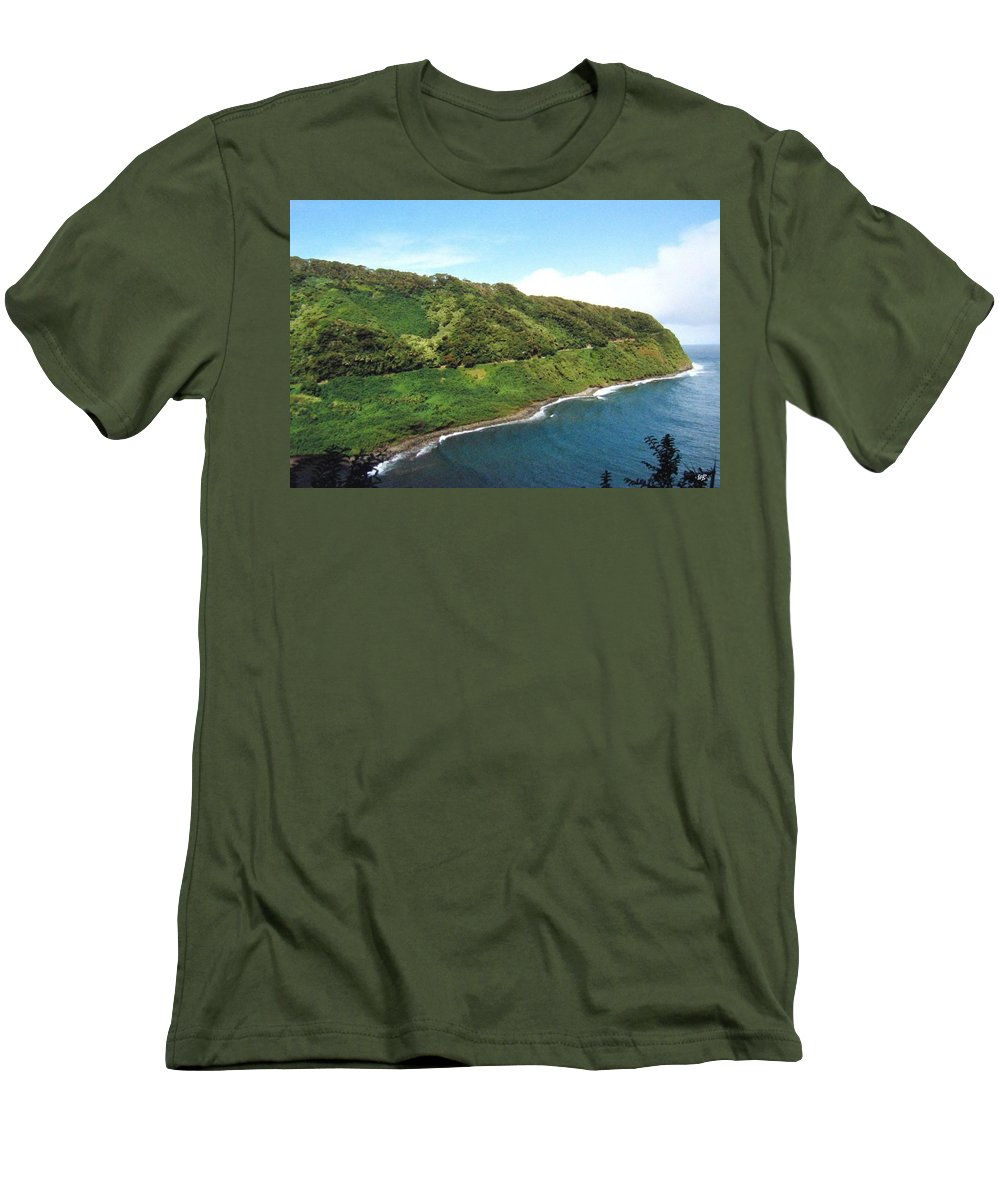 1986 Men's T-Shirt (Athletic Fit) featuring the photograph Road To Hana by Will Borden