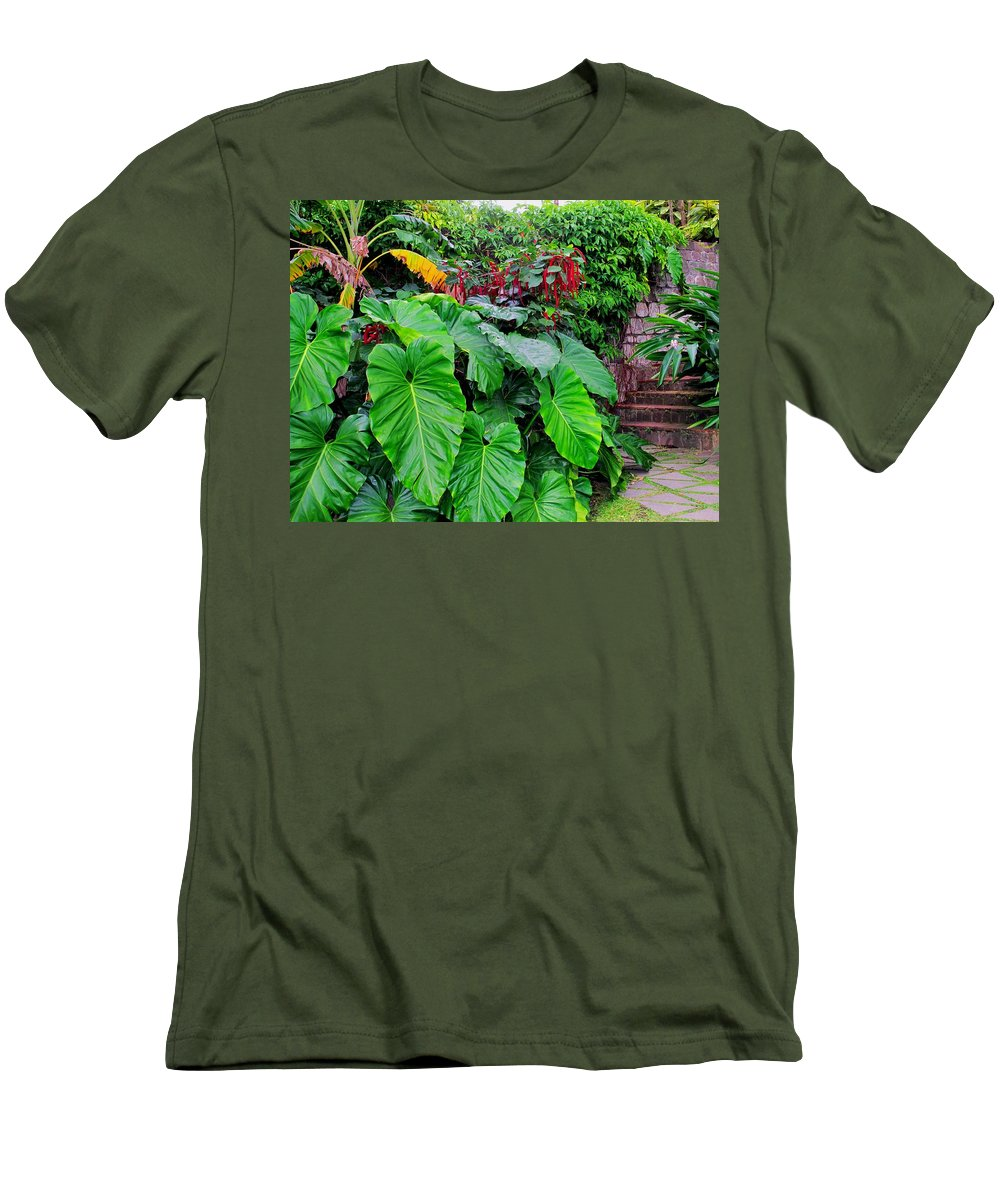 Lush Men's T-Shirt (Athletic Fit) featuring the photograph Romney Steps by Ian MacDonald