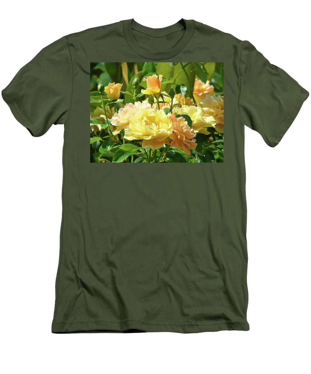 Rose Men's T-Shirt (Athletic Fit) featuring the photograph Roses Art Prints Rose Garden Flowers Giclee Prints Baslee Troutman by Baslee Troutman