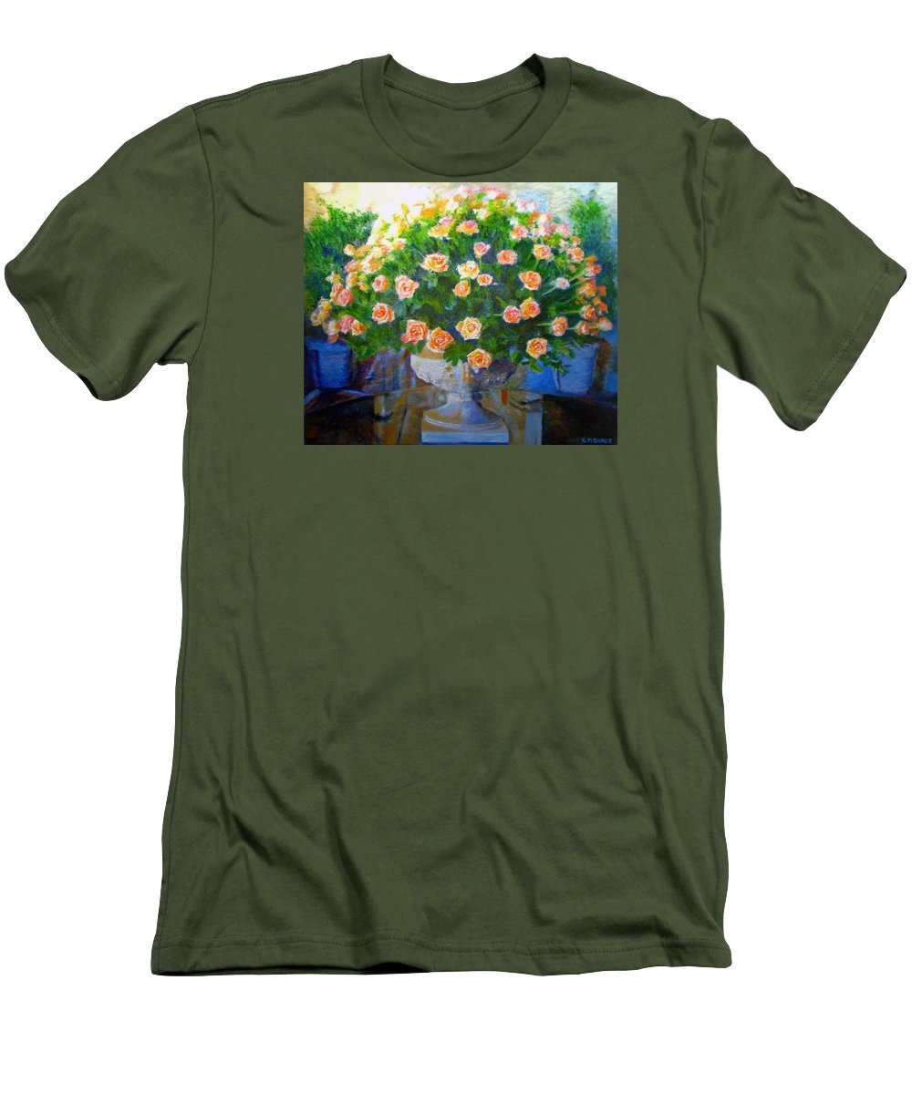 Rose Men's T-Shirt (Athletic Fit) featuring the painting Roses At Table Bay by Michael Durst