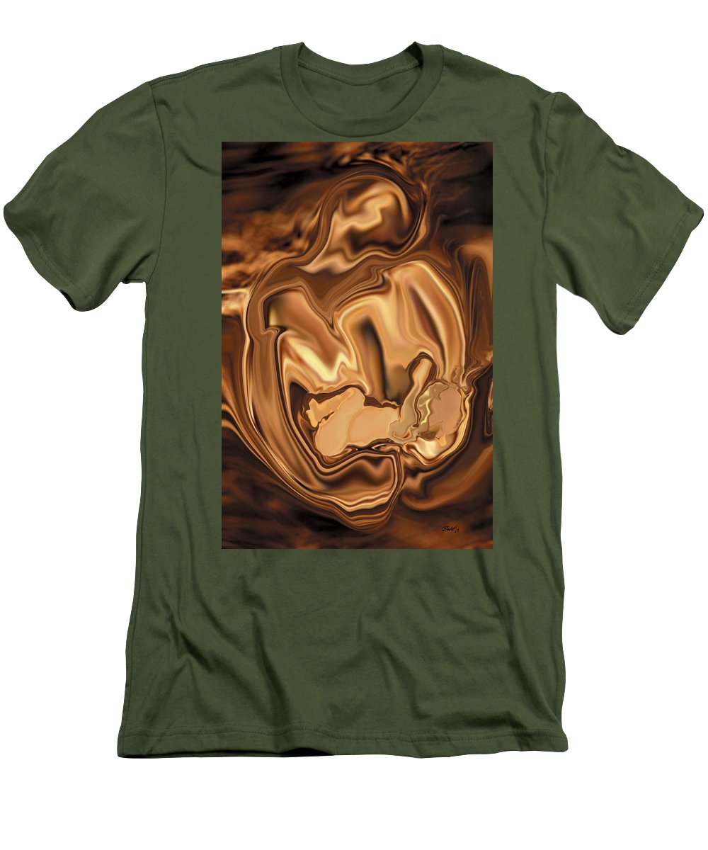 Abstract Men's T-Shirt (Athletic Fit) featuring the digital art Safe-in-her-arms by Rabi Khan