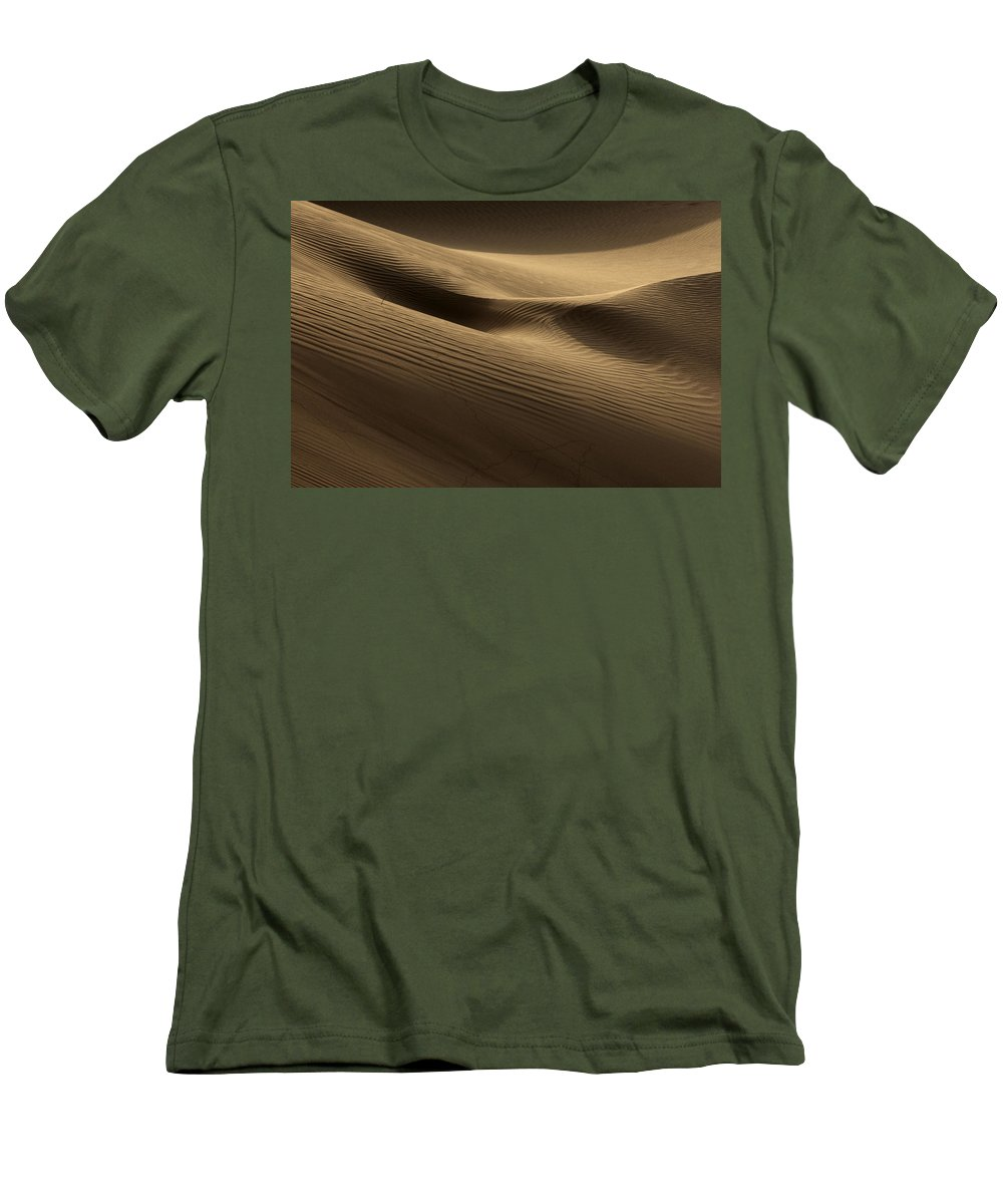 Dunes Men's T-Shirt (Athletic Fit) featuring the photograph Sand Dune by Phil Crean