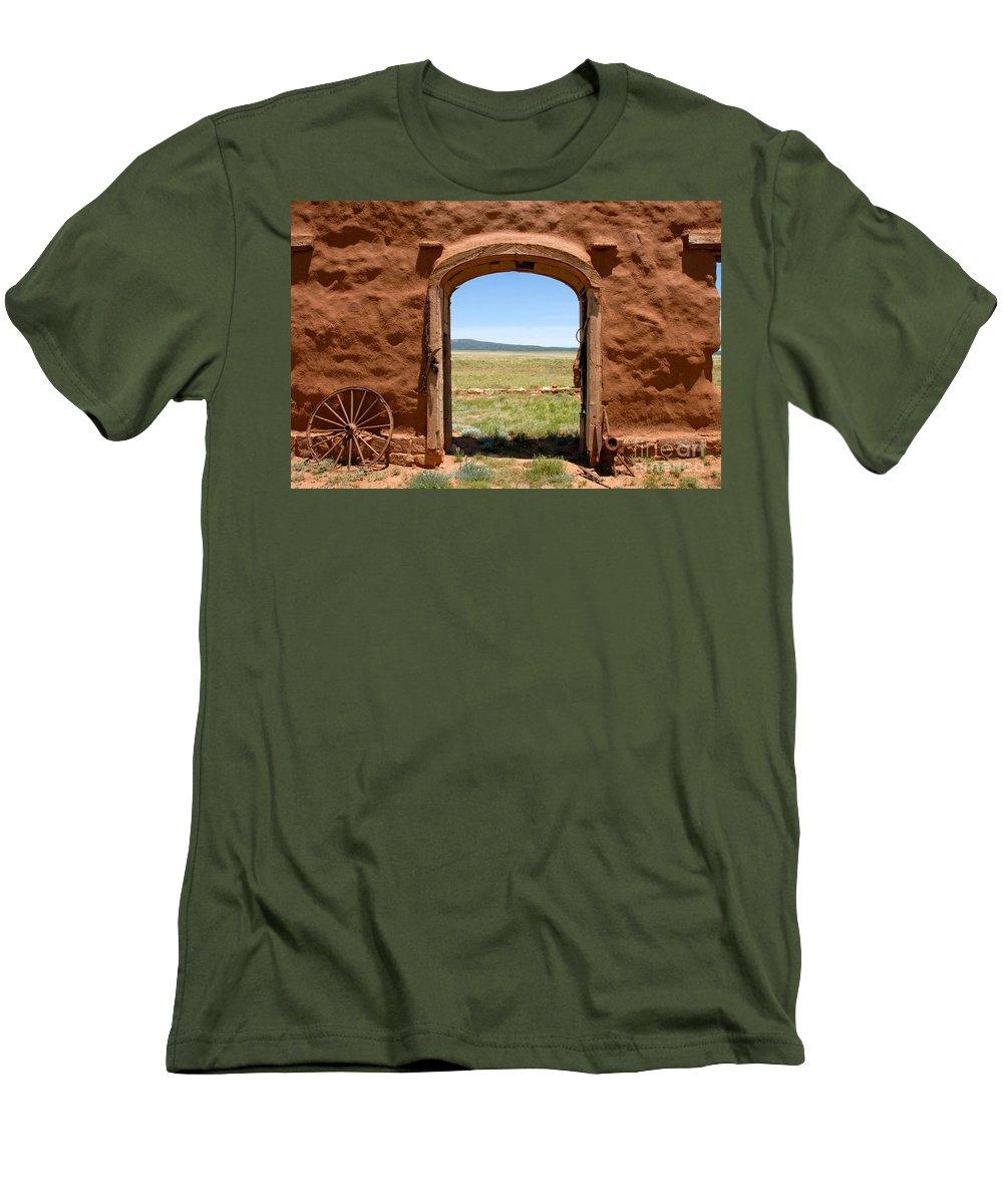 Santa Fe Trail Men's T-Shirt (Athletic Fit) featuring the photograph Santa Fe Trail by David Lee Thompson