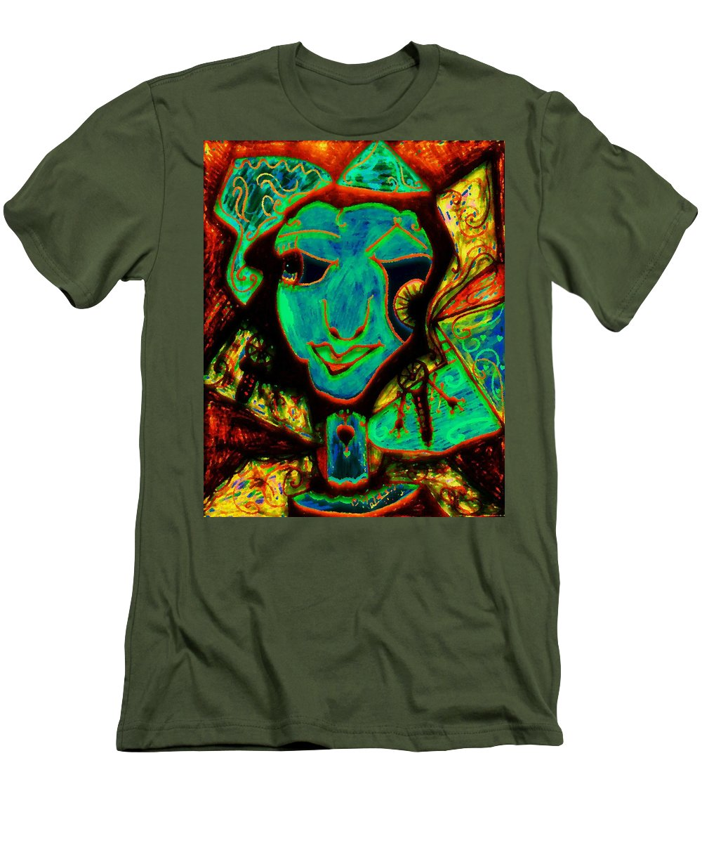 Fantasy Men's T-Shirt (Athletic Fit) featuring the painting Self Portrait by Natalie Holland