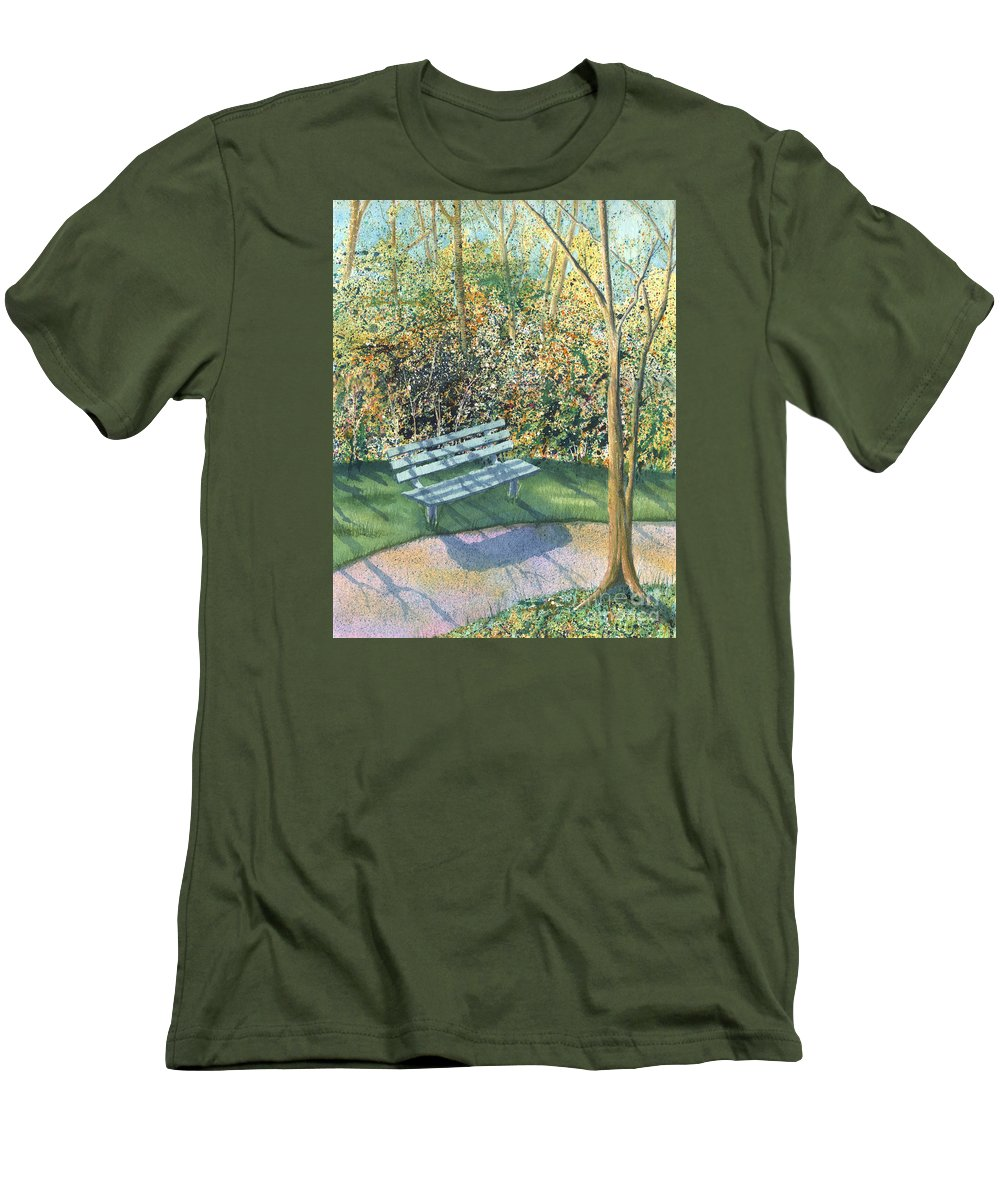 Autumn Trees Men's T-Shirt (Athletic Fit) featuring the painting September Afternoon by Lynn Quinn