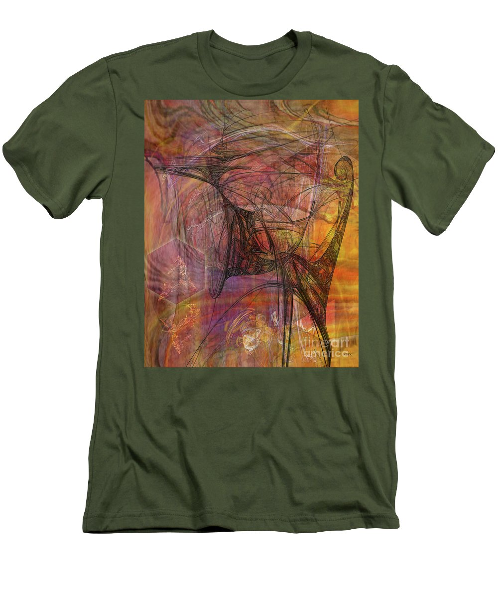 Shadow Dragon Men's T-Shirt (Athletic Fit) featuring the digital art Shadow Dragon by John Beck