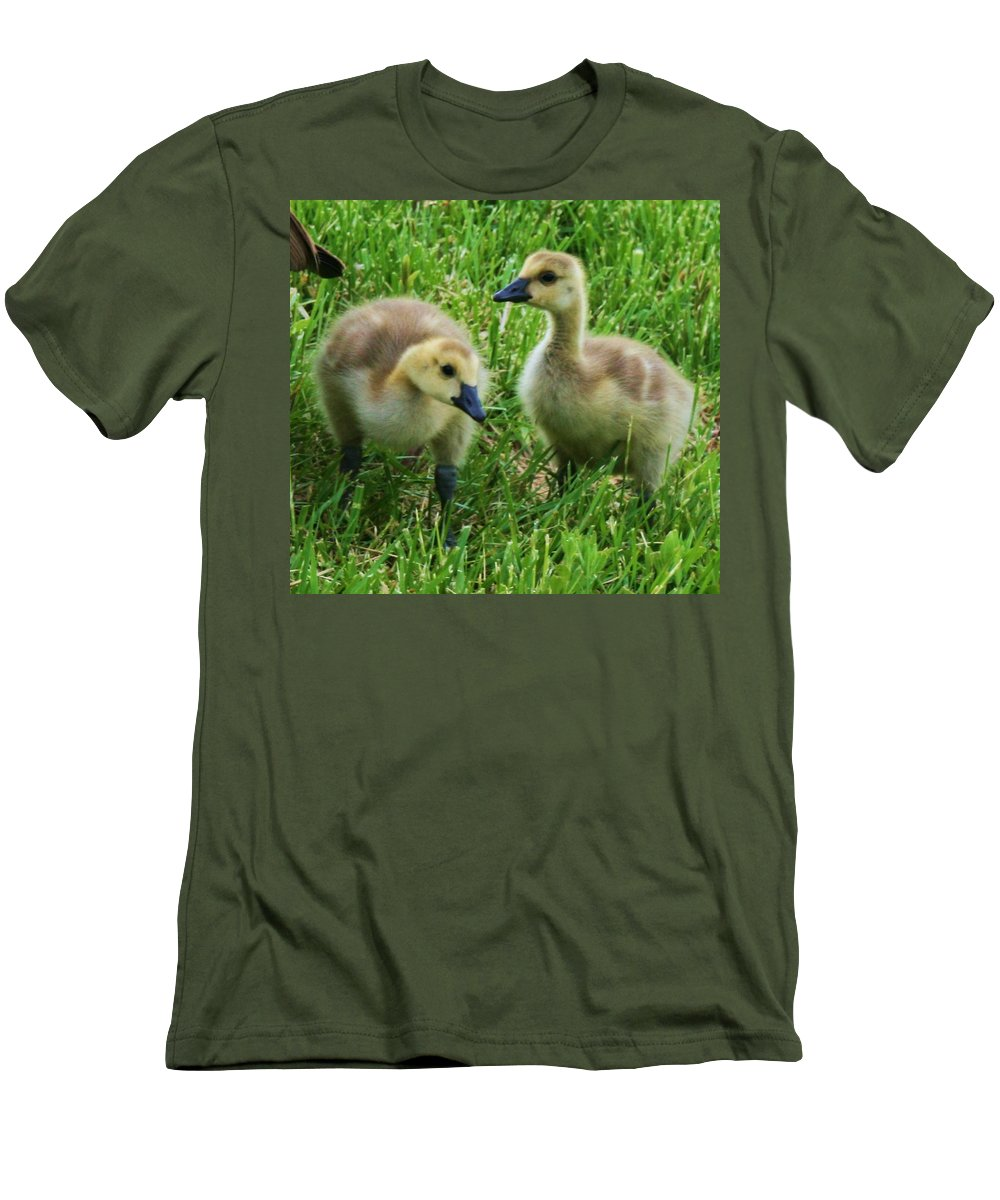 Nature Men's T-Shirt (Athletic Fit) featuring the photograph Siblings by Angus Hooper Iii