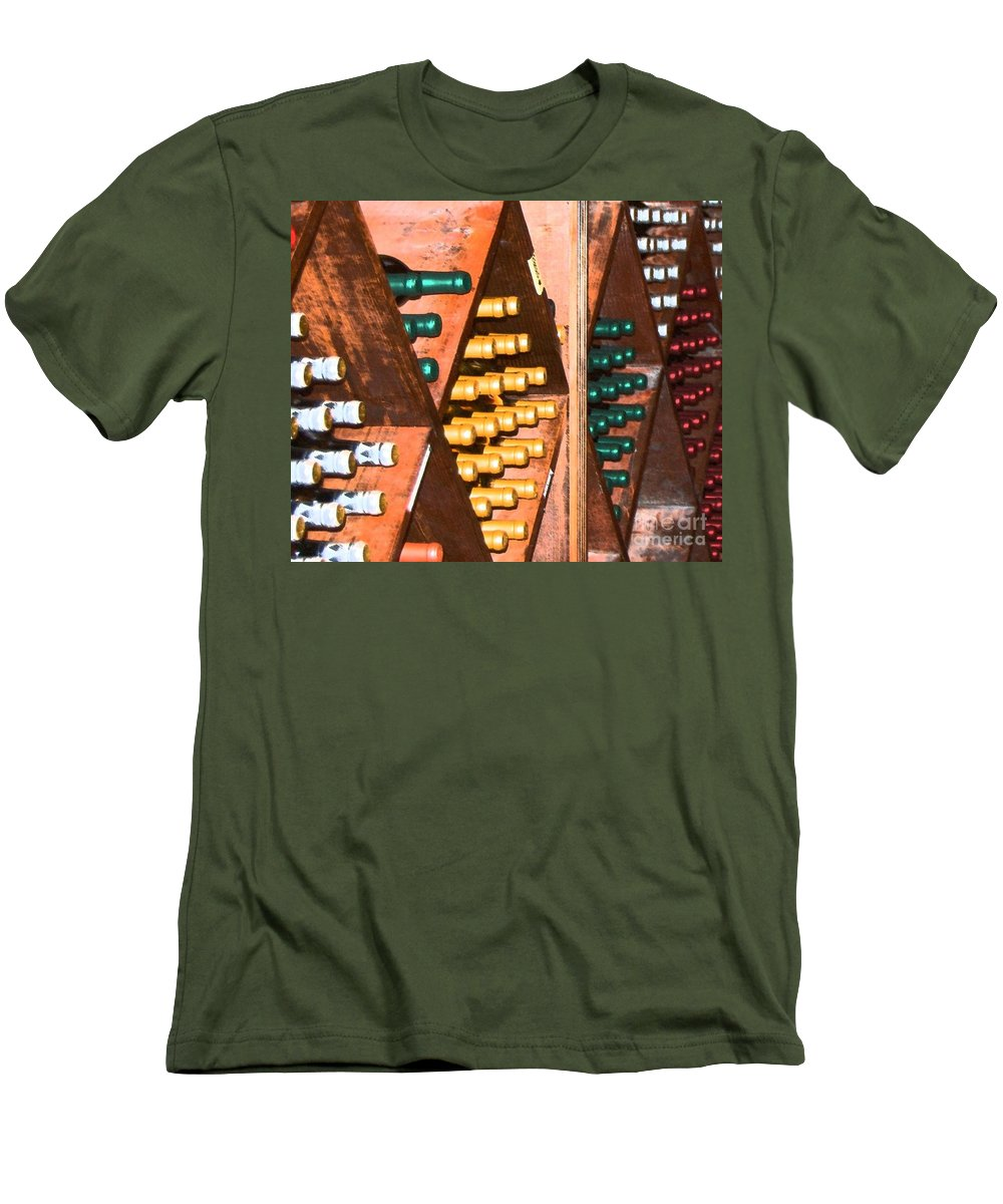 Wine Men's T-Shirt (Athletic Fit) featuring the photograph Sideways by Debbi Granruth