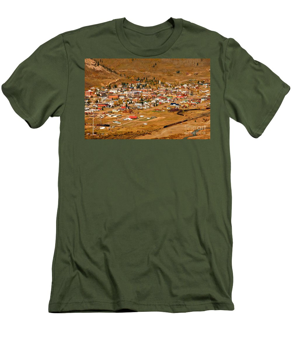 Silverton Colorado Men's T-Shirt (Athletic Fit) featuring the photograph Silverton by David Lee Thompson