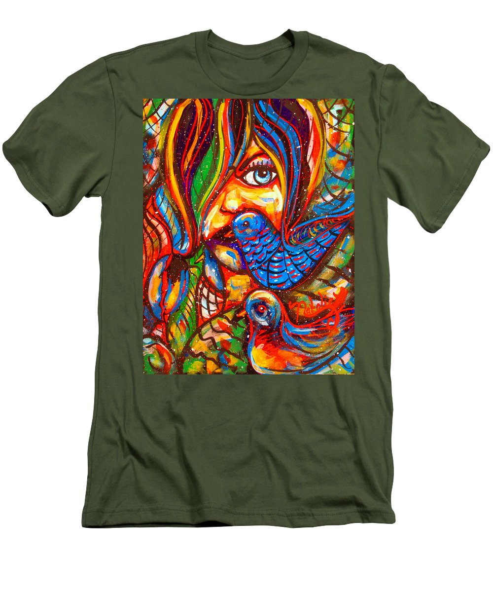 Fantasy Men's T-Shirt (Athletic Fit) featuring the painting Sing Me A Love Song by Natalie Holland