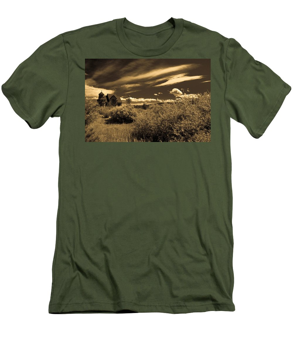 Church Men's T-Shirt (Athletic Fit) featuring the photograph Small Town Church by Marilyn Hunt