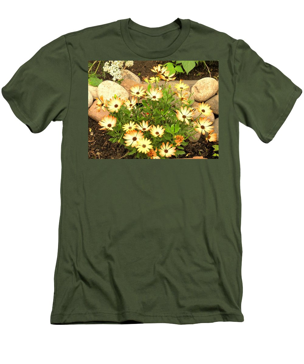 Flowers Men's T-Shirt (Athletic Fit) featuring the photograph Soft by Ian MacDonald