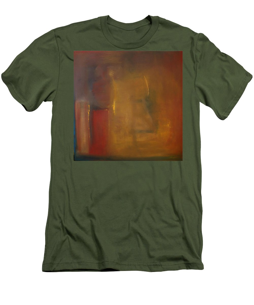 Men's T-Shirt (Athletic Fit) featuring the painting Softly Reflecting by Jack Diamond