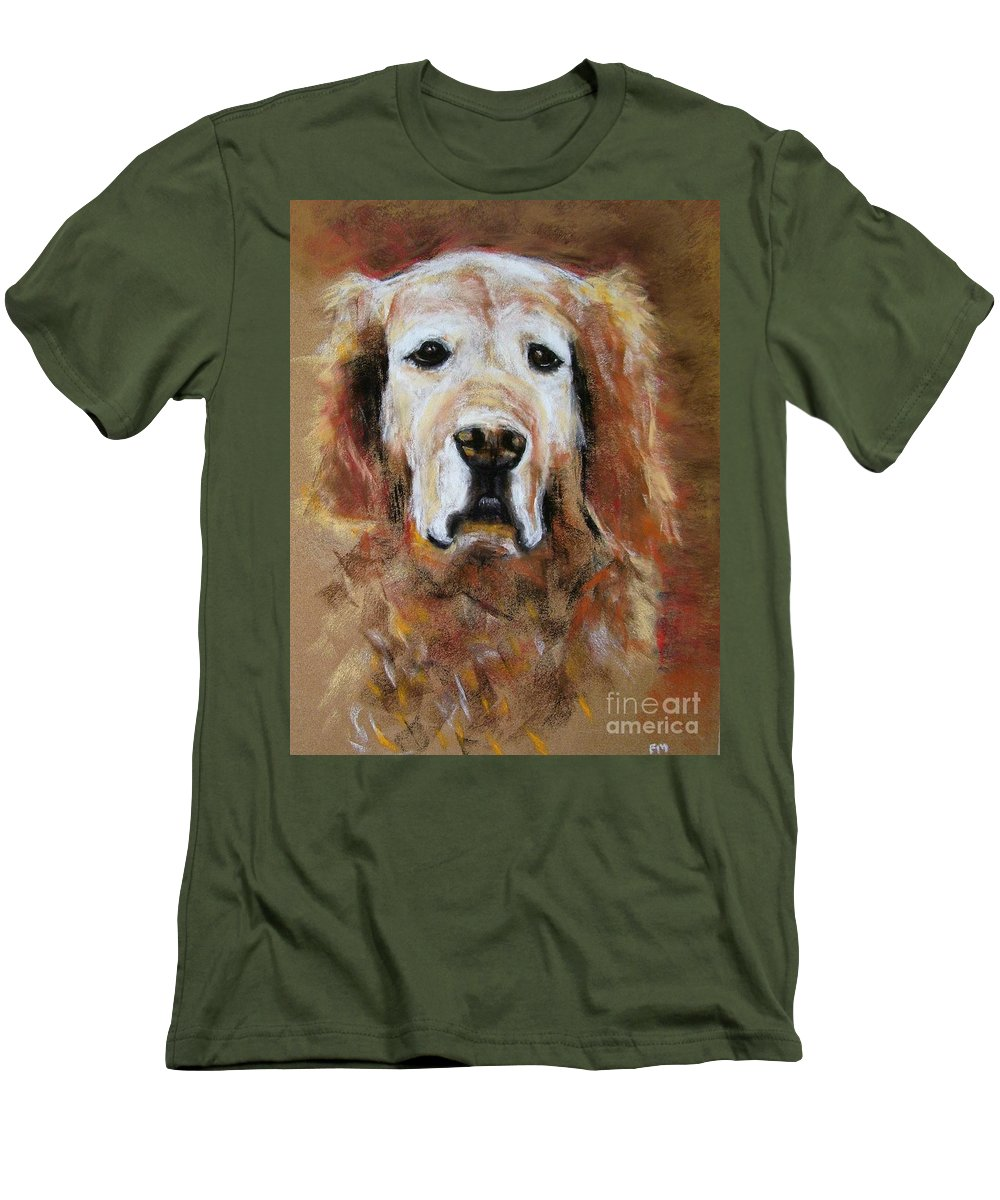 Golden Men's T-Shirt (Athletic Fit) featuring the painting Sonny by Frances Marino