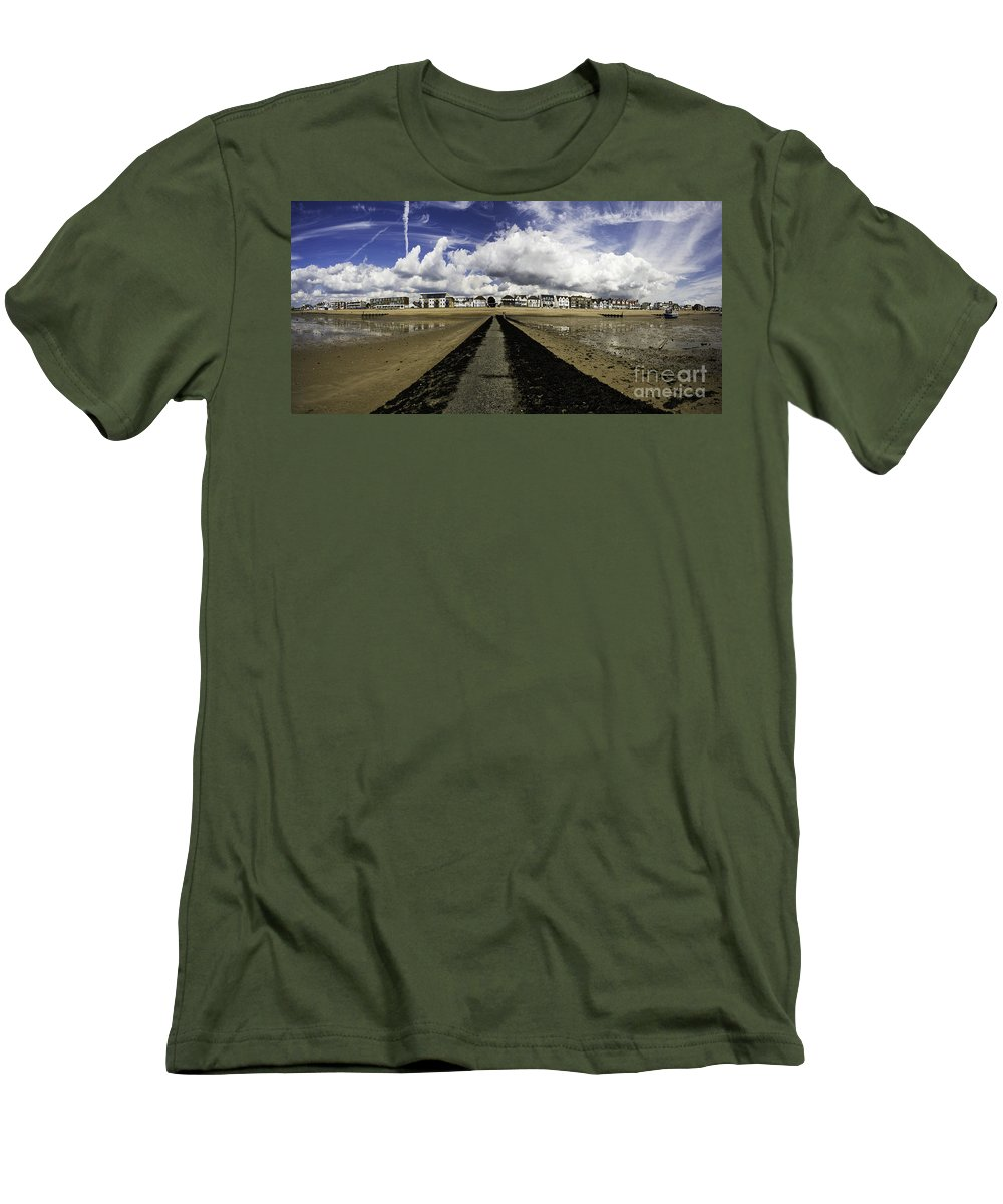 Southend On Sea Men's T-Shirt (Athletic Fit) featuring the photograph Southend On Sea Panorama by Avalon Fine Art Photography