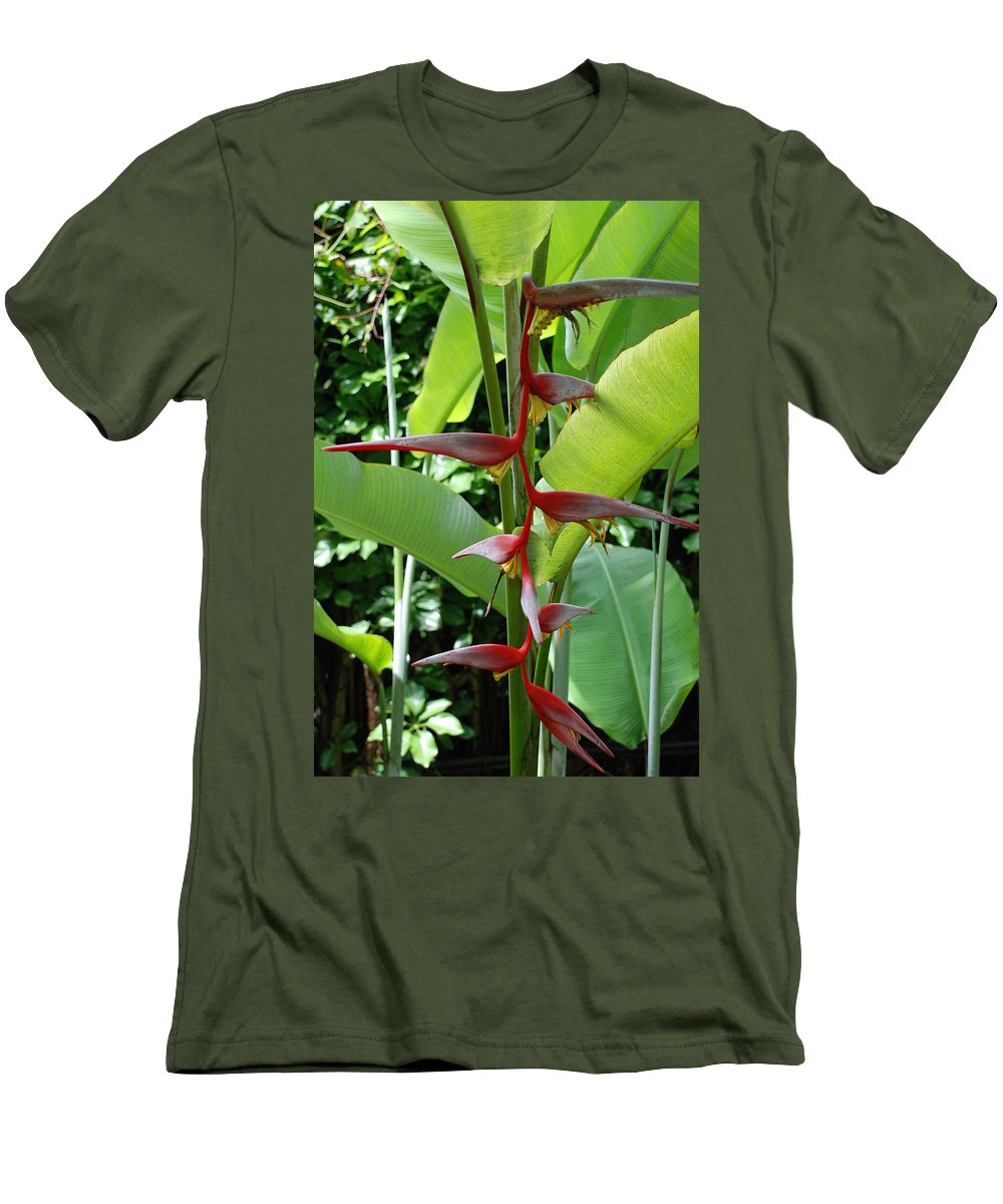 Macro Men's T-Shirt (Athletic Fit) featuring the photograph Spike Tree by Rob Hans