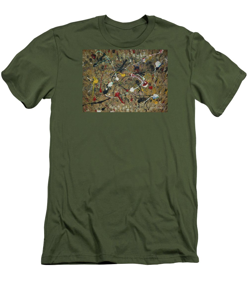 Abstract Men's T-Shirt (Athletic Fit) featuring the painting Splattered by Jacqueline Athmann