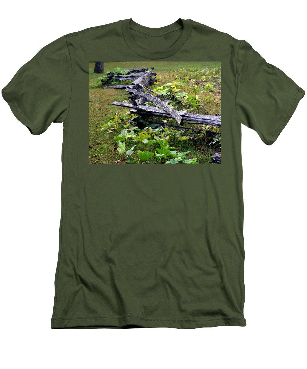 Landscape Men's T-Shirt (Athletic Fit) featuring the photograph Split Rail by Marty Koch