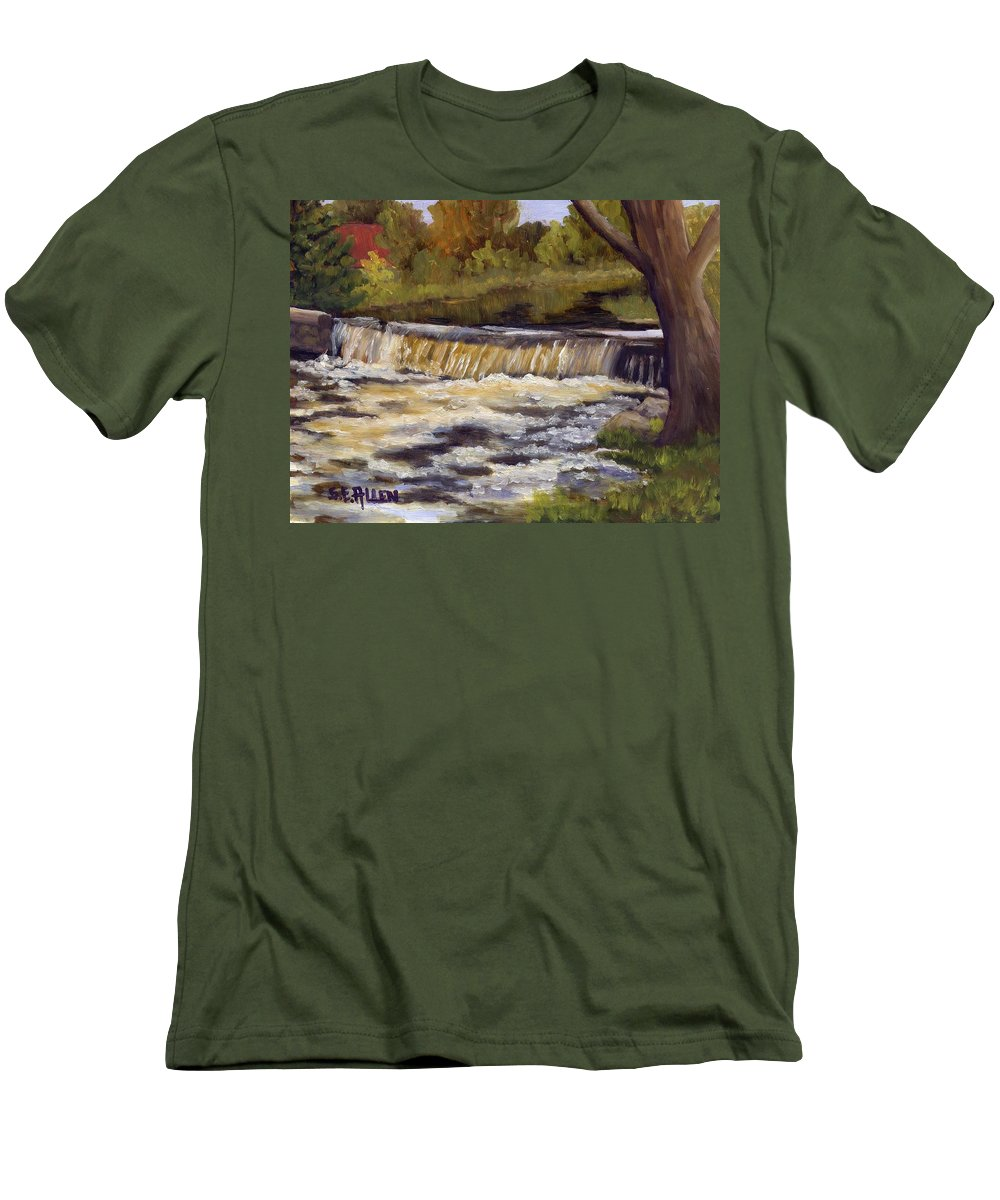 Water Men's T-Shirt (Athletic Fit) featuring the painting Spring Flow by Sharon E Allen