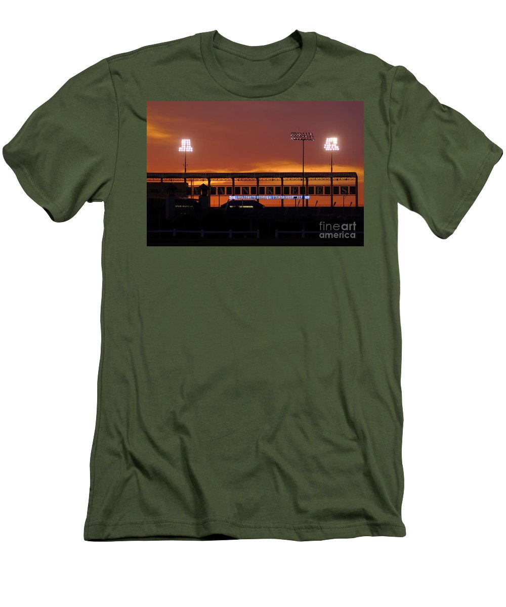 Steinbrenner Field Men's T-Shirt (Athletic Fit) featuring the photograph Steinbrenner Field by David Lee Thompson