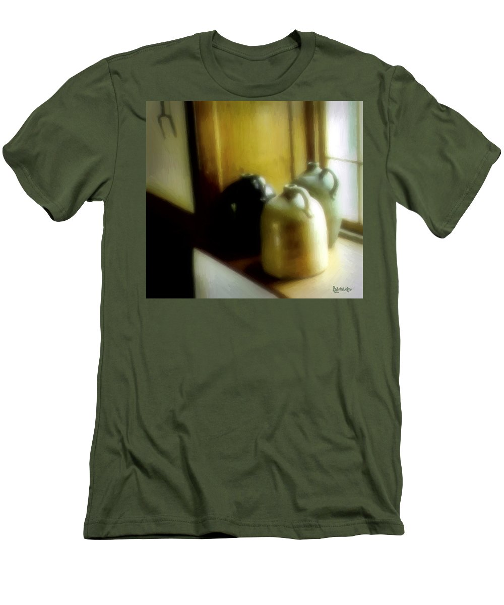 Antiques Men's T-Shirt (Athletic Fit) featuring the digital art Still Life With Stoneware by RC DeWinter