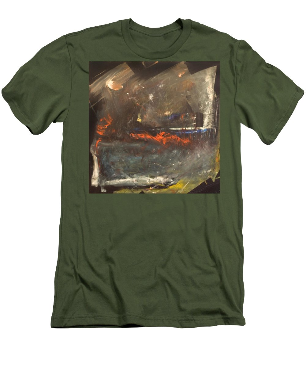 Storm Men's T-Shirt (Athletic Fit) featuring the painting Stormy Monday by Tim Nyberg