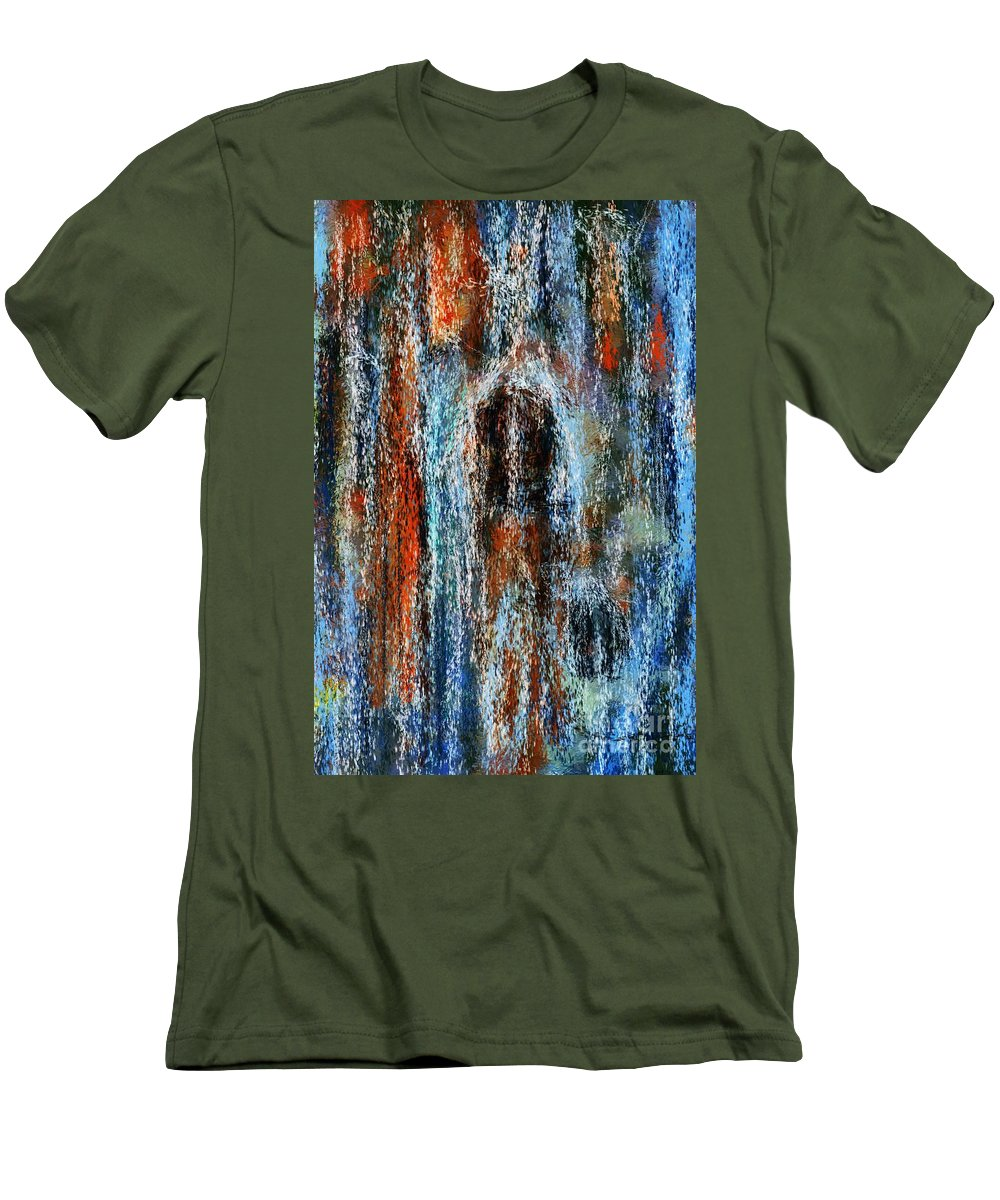 Men's T-Shirt (Athletic Fit) featuring the digital art Stump Revealed by David Lane
