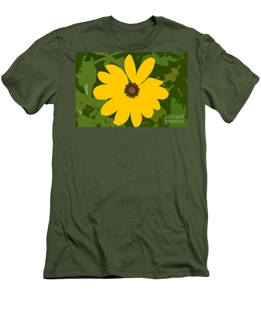Sunflower Men's T-Shirt (Athletic Fit) featuring the photograph Sunflower Work Number 3 by David Lee Thompson