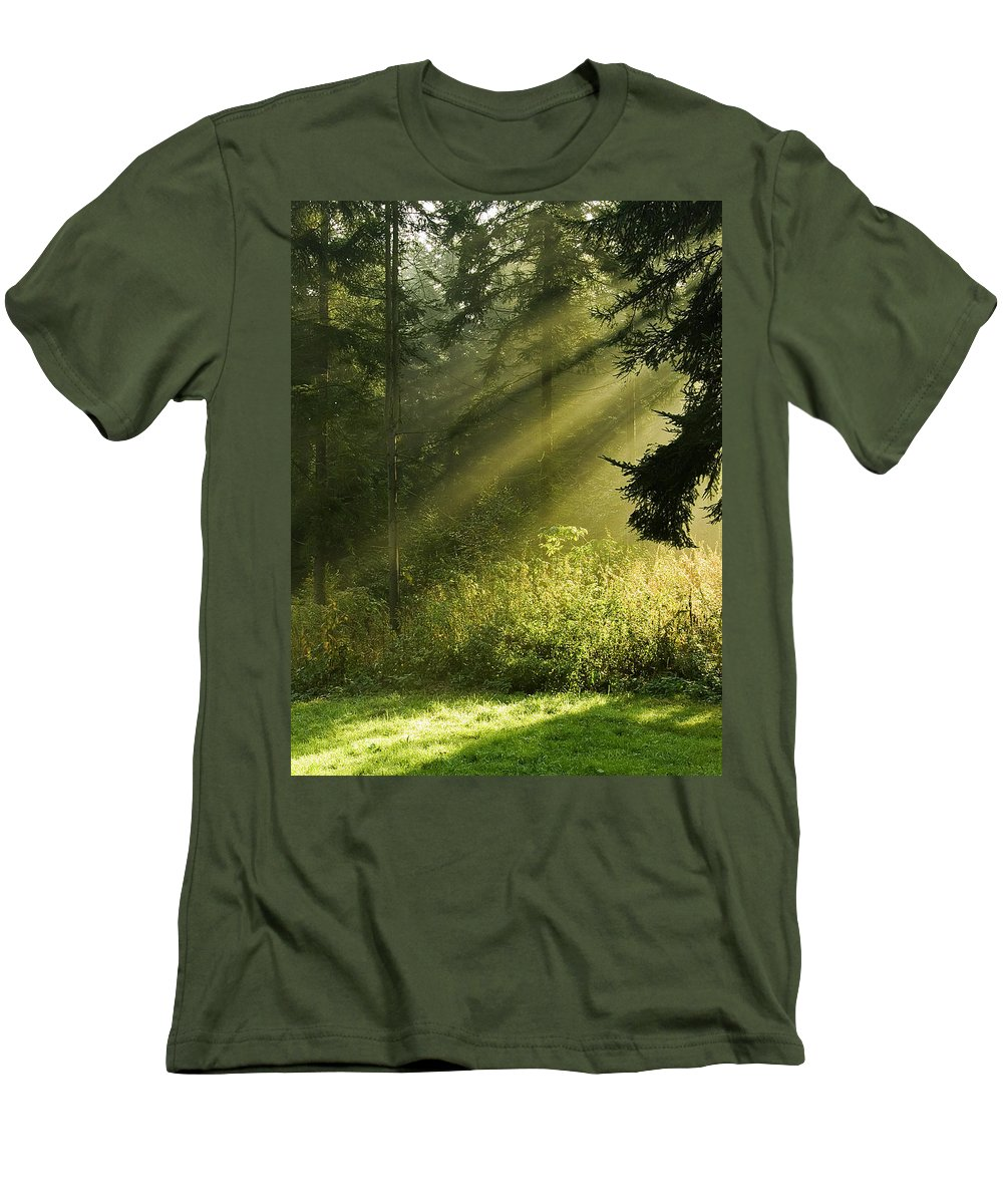 Nature Men's T-Shirt (Athletic Fit) featuring the photograph Sunlight by Daniel Csoka