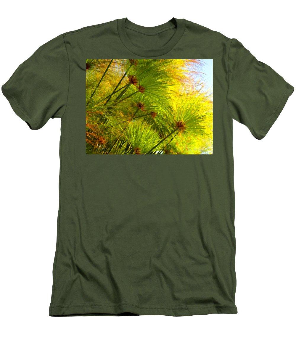 Landscape Men's T-Shirt (Athletic Fit) featuring the painting Sunlit Paparus by Amy Vangsgard