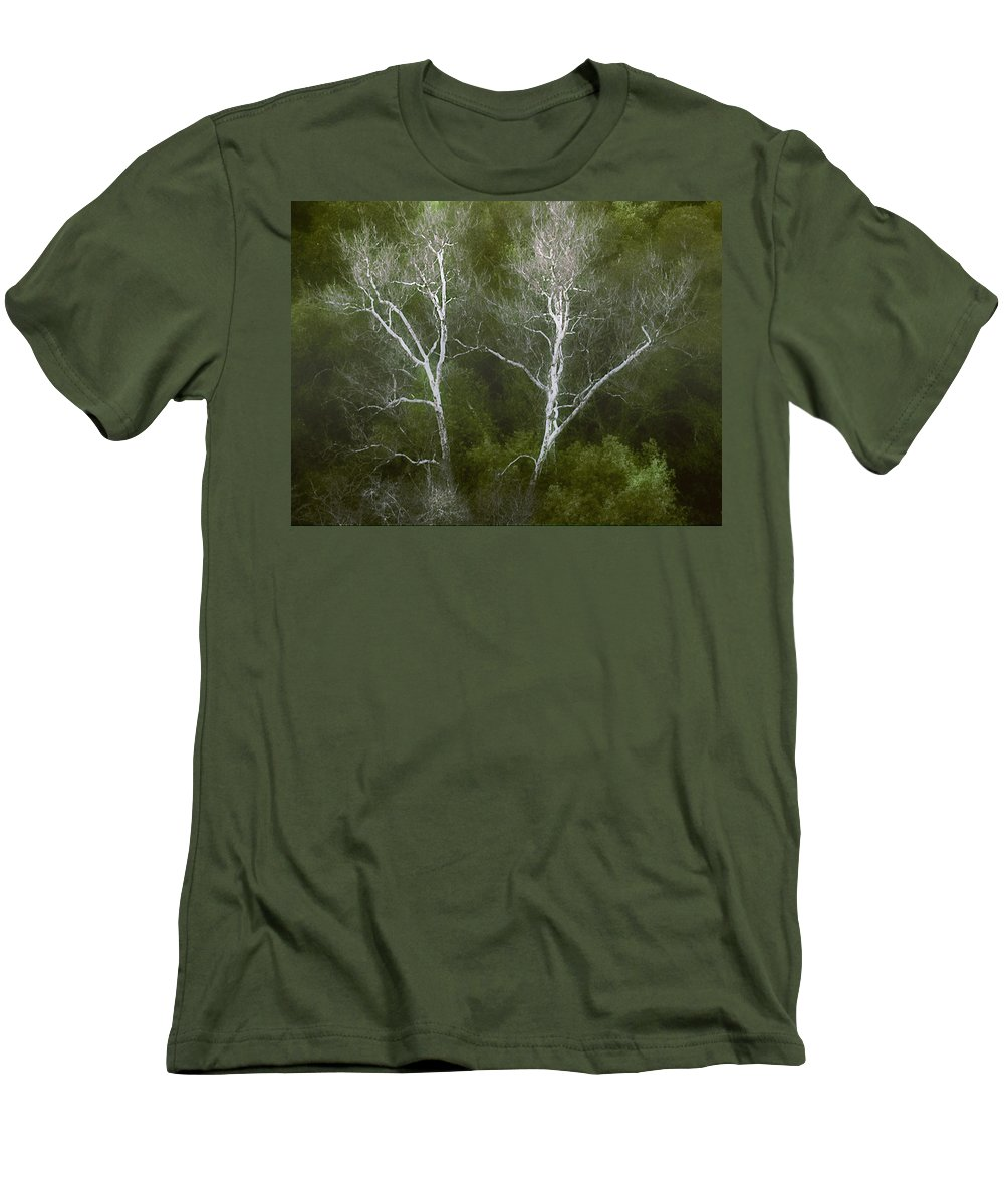 Landscape Men's T-Shirt (Athletic Fit) featuring the photograph Sunol - Twins by Karen W Meyer