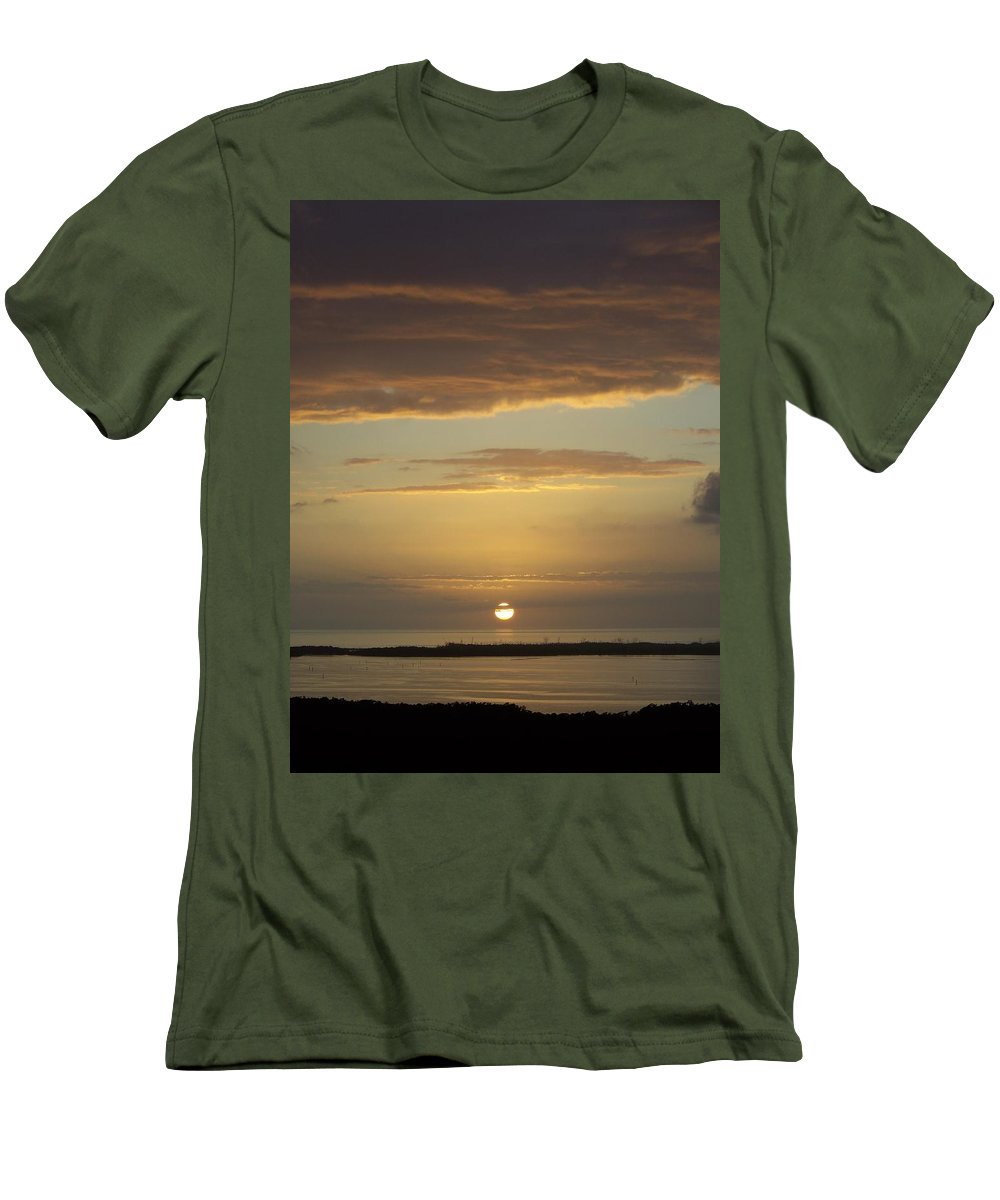 Sunset Men's T-Shirt (Athletic Fit) featuring the photograph Sunset 0021 by Laurie Paci