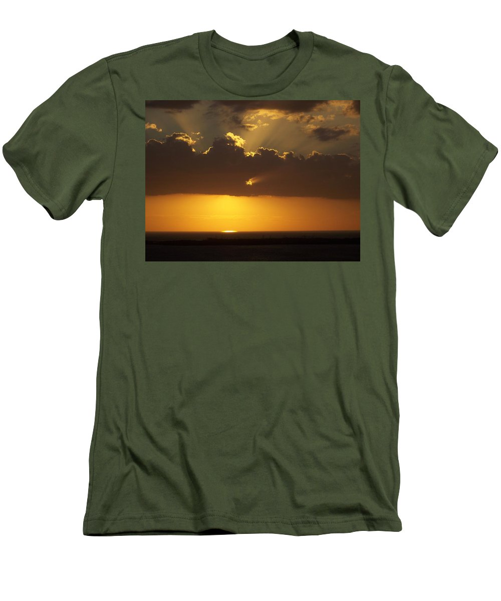 Sunset Men's T-Shirt (Athletic Fit) featuring the photograph Sunset 0025 by Laurie Paci